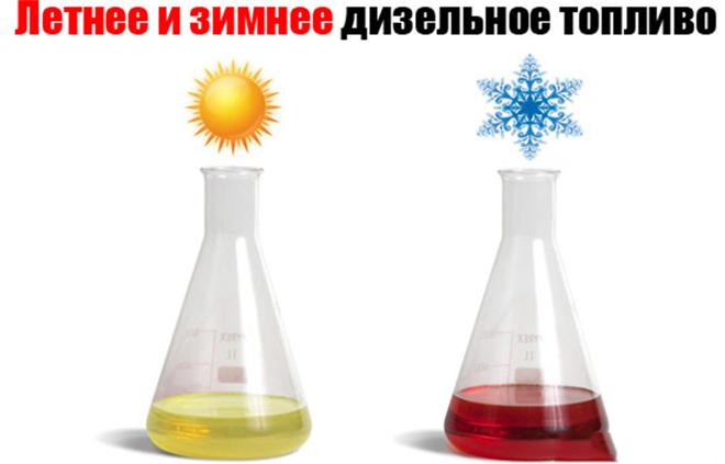 летнее зимнее и арктическое дизельное топливо