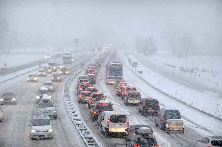 Передвижение на машине зимой