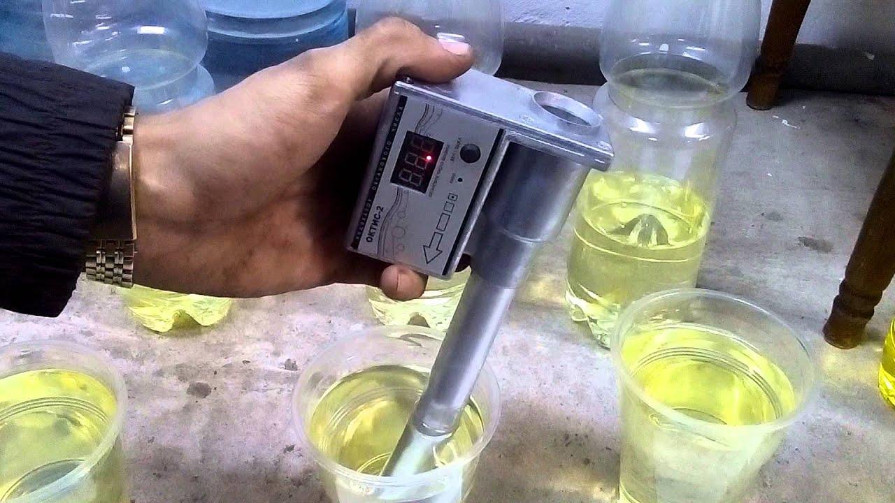 Измерение октанометром