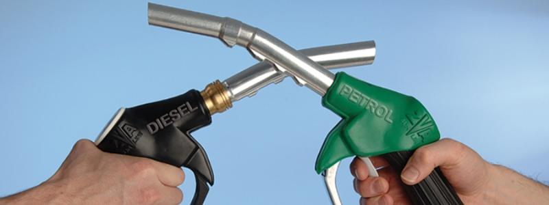бензин или дизель.